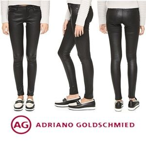 AG 100% Stretch Lambskin Leather Skinny Jeans